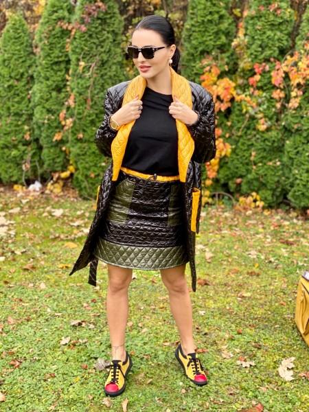 3-farebný kabát OLIVIA