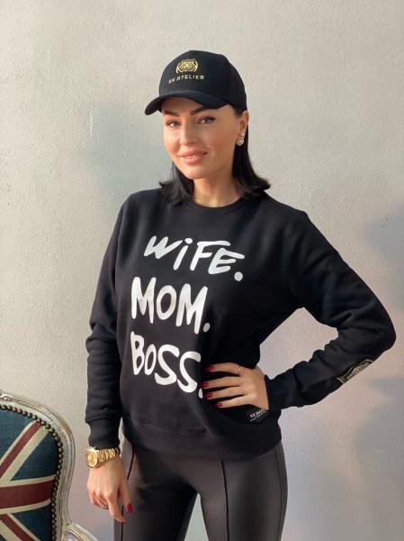 Mikina WIFE MOM BOSS