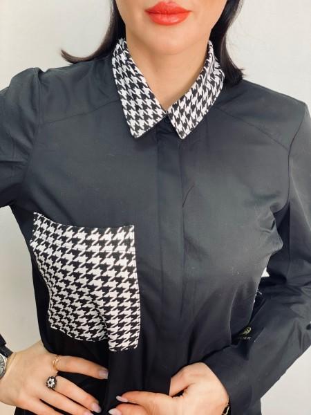 Košeľové šaty BLACK & WHITE