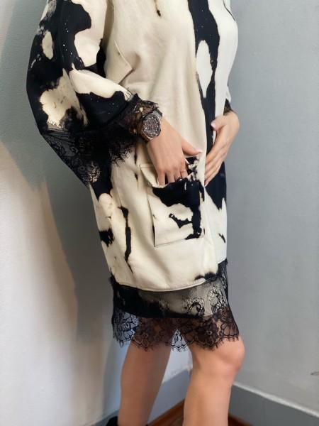 Mikinové šaty TRENDY BATIK